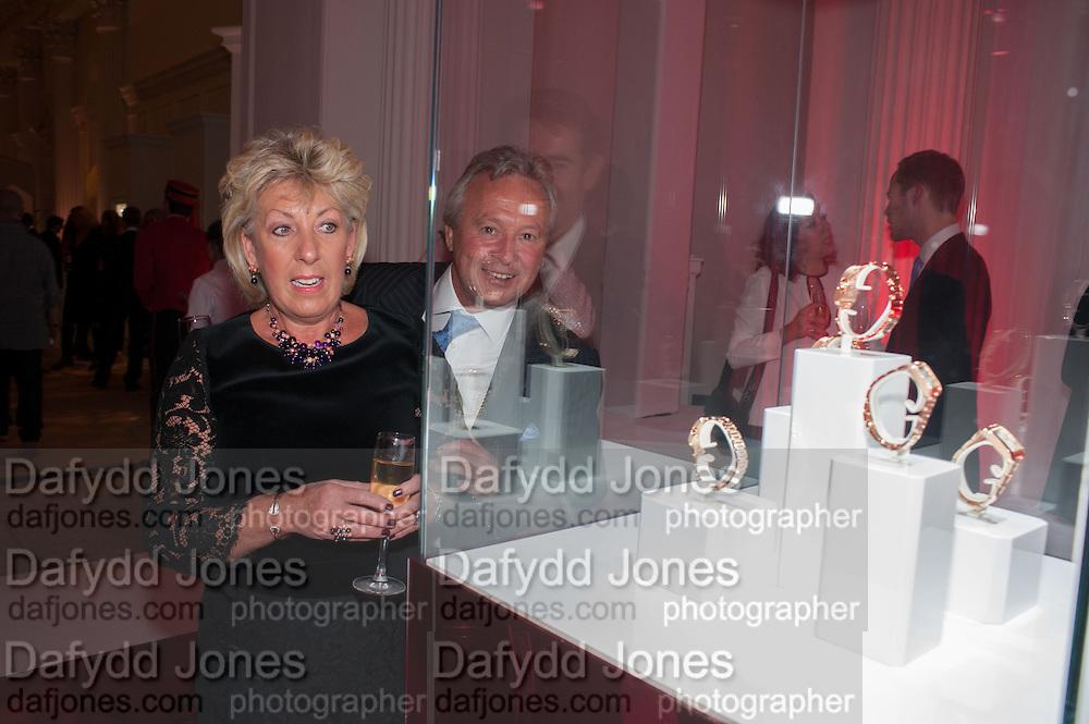JUDY BISHOP; RAY BISHOP, Cartier Tank Anglaise launch. Kensington Palace Orangery, London.  19 April 2012.