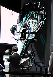 Nov 16, 2016. Los Angeles CA. Jaguar formula 1 car  on display during the media day at the Los Angeles Auto show Wednesday. The show opens to the public on Nov 18th to the 27th.  photos by Gene Blevins/LA DailyNews/ZumaPress. (Credit Image: © Gene Blevins via ZUMA Wire)