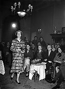 26th February 1954<br /> <br /> Raymond Kenna Fashion Show at the Shelbourne Hotel, Dublin.