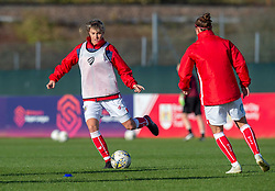 Gemma Evans of Bristol City during warm-up - Mandatory by-line: Paul Knight/JMP - 28/10/2018 - FOOTBALL - Stoke Gifford Stadium - Bristol, England - Bristol City Women v Arsenal Women - FA Women's Super League