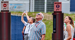09.07.2017, Red Bull Ring, Spielberg, AUT, FIA, Formel 1, Grosser Preis von Österreich, Rennen, im Bild CEO and Founder of Red Bull Dietrich Mateschitz (AUT) mit Freundin Marion Feichtner // CEO and Founder of Red Bull Dietrich Mateschitz (AUT) with girlfriend Marion Feichtner during the Race of the Austrian FIA Formula One Grand Prix at the Red Bull Ring in Spielberg, Austria on 2017/07/09. EXPA Pictures © 2017, PhotoCredit: EXPA/ JFK