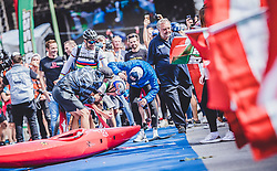 08.09.2018, Lienz, AUT, 31. Red Bull Dolomitenmann 2018, im Bild Rifesser Lukas (AUT, Red Bull), Lakata Alban (AUT, Red Bull), Hudetz Harald (AUT, Red Bull), Anton Palzer (GER, Red Bull) // Rifesser Lukas (AUT, Red Bull), Lakata Alban (AUT, Red Bull), Hudetz Harald (AUT, Red Bull), Anton Palzer (GER, Red Bull) during the 31th Red Bull Dolomitenmann. Lienz, Austria on 2018/09/08, EXPA Pictures © 2018, PhotoCredit: EXPA/ JFK