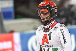 """29.01.2019, Planai, Schladming, AUT, FIS Weltcup Ski Alpin, Slalom, Herren, 2. Lauf, im Bild Christian Hirschbuehl (AUT) // reacts after his 2nd run of men's Slalom """"the Nightrace"""" of FIS ski alpine world cup at the Planai in Schladming, Austria on 2019/01/29. EXPA Pictures © 2019, PhotoCredit: EXPA/ Erich Spiess"""
