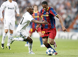 27-04-2011 VOETBAL: SEMI FINAL CL REAL MADRID - FC BARCELONA: MADRID<br /> Lass Diarra against Seydou Keita <br /> *** NETHERLANDS ONLY***<br /> ©2011-FH.nl-nph/ Alvaro Hernandez