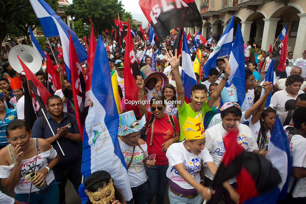 yearly rememberance of the revolution in nicaragua