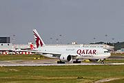 A7-BFE Qatar Airways Cargo Boeing 777-FDZ at Malpensa (MXP / LIMC), Milan, Italy