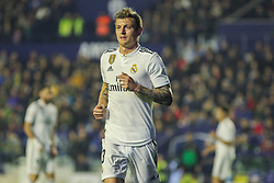 February 24, 2019 - Valencia, Valencia, Spain - Kroos of Real Madrid  in action during La Liga Spanish championship, football match between Levante and Real Madrid, February 24th, Ciudad de Valencia stadium, in Valencia, Spain. (Credit Image: © AFP7 via ZUMA Wire)