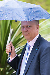Downing Street, London, May 10th 2016. Leader of the House of Commons Chris Grayling arrives at the weekly cabinet meeting in Downing Street.