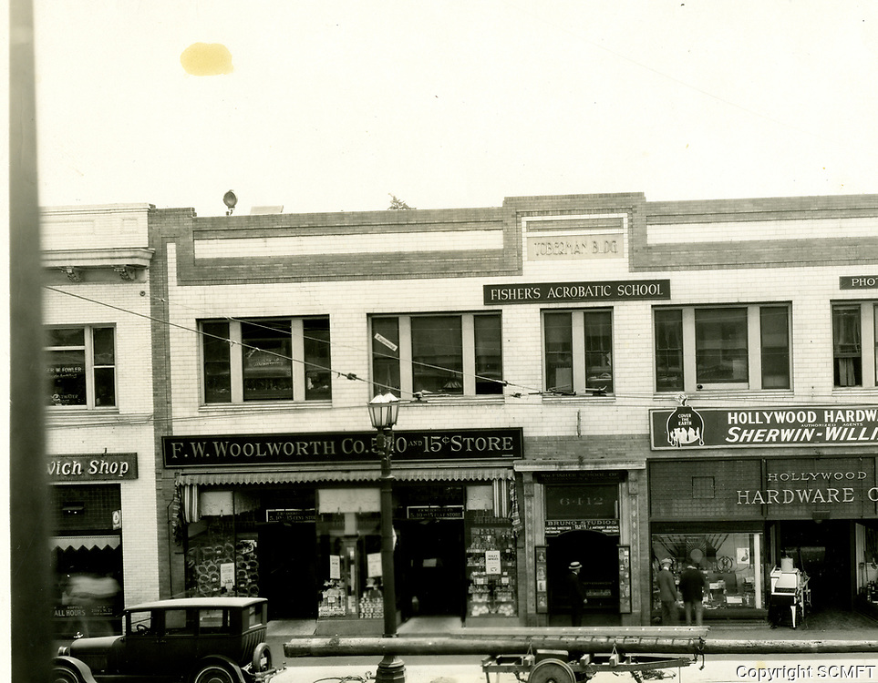 1916 F.W. Woolworth & Hollywood Hardware Store at 6412 Hollywood Blvd.