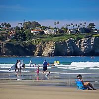 USA, California, La Jolla. People enjoying La Jolla Shores in San Diego.