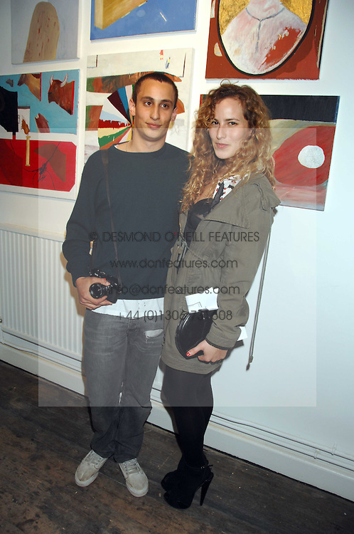 ALEX DELLAL and his sister CHARLOTTE DELLAL at a party to celebrate the opening of a new art gallery, 20 Hoxton Square, Hoxton Square, London on 27th April 2007.<br /><br />NON EXCLUSIVE - WORLD RIGHTS