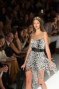 Black and white jungle print minidress. By Carlos Miele at the Spring 2013 Mercedes-Benz Fashion Week in New York.