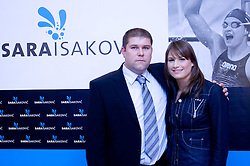 Coach Miha Potocnik and Sara Isakovic at press conference when she has signed a contract with SI Sport, on December 22, 2008, Grand hotel Union, Ljubljana, Slovenia. (Photo by Vid Ponikvar / SportIda).