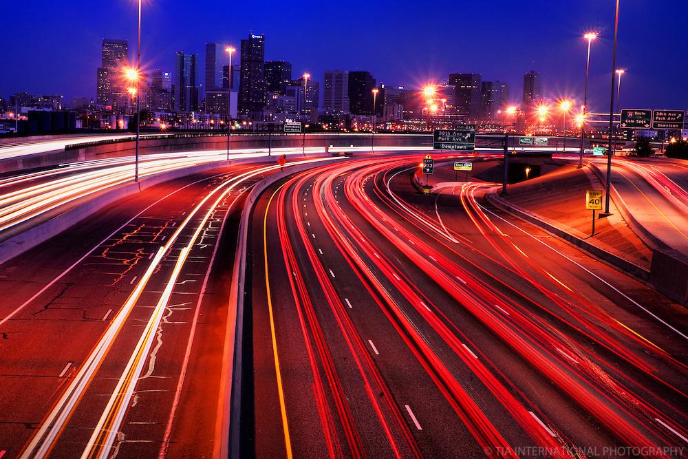 Denver Skyline & Interstate 25