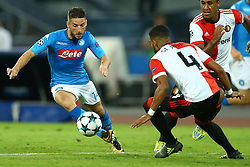 September 26, 2017 - Naples, Campania, Italy - Dries Mertens of Napoli  during the UEFA Champions League group F match between SSC Napoli and Feyenoord at Stadio San Paolo on September 26, 2017 in Naples, Italy. (Credit Image: © Matteo Ciambelli/NurPhoto via ZUMA Press)