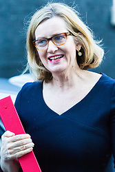 London, January 16 2018. Home Secretary Amber Rudd attends the UK cabinet meeting at Downing Street. © Paul Davey