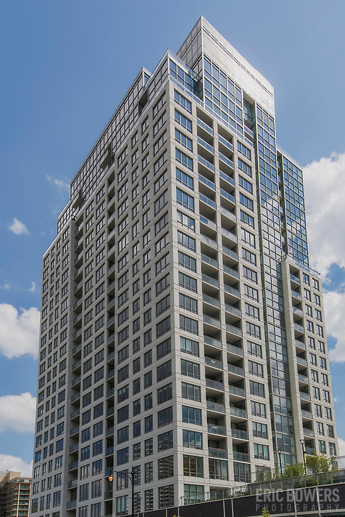 The Hudson, residential building completed in 2017, Chicago Illinois at 750 N. Hudson Avenue, 60654