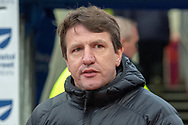 Barnsley Manager Daniel Stendel on the pitch prior to kick off during the The FA Cup 3rd round match between Burnley and Barnsley at Turf Moor, Burnley, England on 5 January 2019.