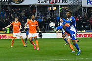 Timmy Abraham (29) of Bristol Rovers controls the ball during the EFL Sky Bet League 1 match between Bristol Rovers and Blackpool at the Memorial Stadium, Bristol, England on 15 February 2020.
