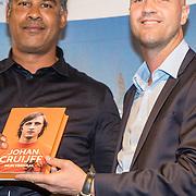 NLD/Amsterdam/20161007 - Presentatie biografie over het leven van oud voetballer Johan Cruijff, Frank Rijkaard en Jordi Cruijff