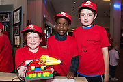Aisling Harrison, Magdien Dombas, Jamie Brennan from the Claddagh NS at the annual Junior FIRST Lego League run by Galway Education Centre, in the Radisson blu Hotel.  Photo:Andrew Downes<br />  Photo:Andrew Downes, XPOSURE