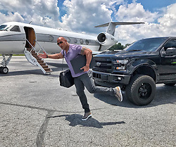"""Dwayne Johnson releases a photo on Instagram with the following caption: """"He gone. \nQuick trip up to Vancouver, Canada \ud83c\udde8\ud83c\udde6 to do some prepping for our next film, \"""". Photo Credit: Instagram *** No USA Distribution *** For Editorial Use Only *** Not to be Published in Books or Photo Books ***  Please note: Fees charged by the agency are for the agency's services only, and do not, nor are they intended to, convey to the user any ownership of Copyright or License in the material. The agency does not claim any ownership including but not limited to Copyright or License in the attached material. By publishing this material you expressly agree to indemnify and to hold the agency and its directors, shareholders and employees harmless from any loss, claims, damages, demands, expenses (including legal fees), or any causes of action or allegation against the agency arising out of or connected in any way with publication of the material."""