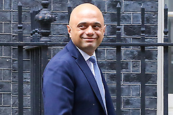 © Licensed to London News Pictures. 04/009/2019. London, UK. Chancellor of The Exchequer SAJID JAVID departs from Number 11 Downing Street for House of Commons to announce the UK Government's first spending review. Photo credit: Dinendra Haria/LNP