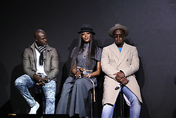 November 10, 2017 - New York City, New York, USA - 11/10/17.Djimon Hounso, Naomi Campbell and Sean Diddy Combs at a photocall for the 2018 Pirelli Calendar by Tim Walker in New York City. (Credit Image: © Starmax/Newscom via ZUMA Press)