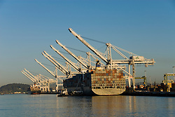 California: Container shipping at Port of Oakland. Photo copyright Lee Foster. Photo # casanf78977