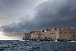13.08.2013, Hafen, Dubrovnik, CRO, dunkle Wolken im Hafen von Dubrovnik // heavy clouds over the port of Dubrovnik, Croatia on 2013/08/13. EXPA Pictures © 2013, PhotoCredit: EXPA/ Pixsell/ Grgo Jelavic<br /> <br /> ***** ATTENTION - for AUT, SLO, SUI, ITA, FRA only *****