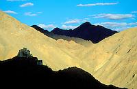 Inde - Province du Jammu Cachemire -  Ladakh - Leh - Monastère bouddhiste de Namgyal Tsemo // India. Province of Jammu Cachemire. Ladakh. Leh. Bouddhist monastery of Namgyal Tsemo.