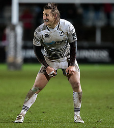 Ospreys' Jeff Hassler<br /> <br /> Photographer Simon King/Replay Images<br /> <br /> Guinness Pro14 Round 12 - Dragons v Cardiff Blues - Sunday 31st December 2017 - Rodney Parade - Newport<br /> <br /> World Copyright © 2017 Replay Images. All rights reserved. info@replayimages.co.uk - http://replayimages.co.uk