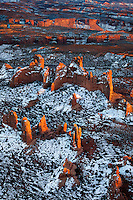 Sandstone formations in Arches National Park