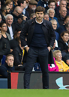 Football - 2016 / 2017 Premier League - Tottenham Hotspur vs. Leicester City<br /> <br /> Tottenham Manager Mauricio Pochettino watches on at White Hart Lane.<br /> <br /> COLORSPORT/DANIEL BEARHAM