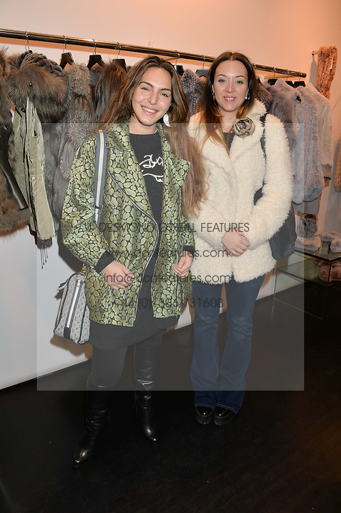 Left to right, ANDREA GELARDIN and RUTH HOGBEN at a preview of the Hockley Autumn -Winter 2013/2014 Collection at Hockley, 20 Conduit Street, London on 26th November 2013.