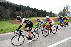 Jonathan Milan of Cycling team Friuli ASD and Ziga Groselj of KK Adria Mobil during cycling race 5th Grand Prix Adria Mobil, on April 7, 2019, in Novo mesto, Slovenia. Photo by Vid Ponikvar / Sportida