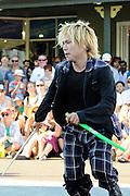 GABEZ, street performers from Japan, performing at the 2013 Fremantle Street Art Festival, Western Australia