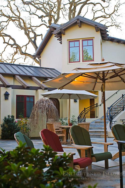 Courtyard at the Hotel Cheval, Paso Robles, San Luis Obispo County, California