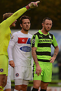 Forest Green Rovers striker Rhys Murphy (39) waits for a corner during the Vanarama National League match between Forest Green Rovers and Dagenham and Redbridge at the New Lawn, Forest Green, United Kingdom on 29 October 2016. Photo by Alan Franklin.