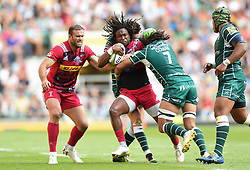 Marland Yarde of Harlequins is double-tackled - Mandatory byline: Patrick Khachfe/JMP - 07966 386802 - 02/09/2017 - RUGBY UNION - Twickenham Stadium - London, England - London Irish v Harlequins - Aviva Premiership