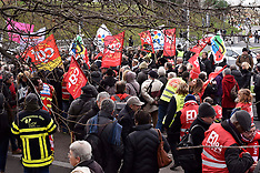 Yellow Vest And Trade Unionists Protest - 9 Jan 2019