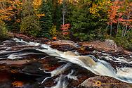 Yellow Dog Falls in autumn near Marquette, Michigan, USA