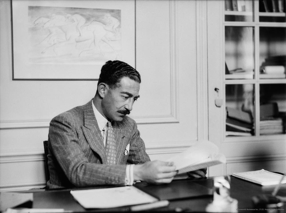 Michael Arlen, Novelist, at Villa Bella Vista, Cannes, circa 1935