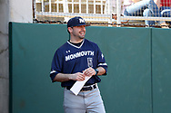 CARY, NC - FEBRUARY 23: Monmouth assistant coach Chris Collazo. The Monmouth University Hawks played the Saint John's University Red Storm on February 23, 2018 on Field 2 at the USA Baseball National Training Complex in Cary, NC in a Division I College Baseball game. St John's won the game 3-0.