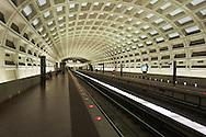 USA, Virginia, Arlington. Metro station in suburban Washington, D.C.