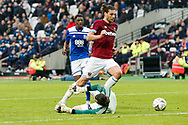 West Ham United forward Andy Carroll (9) misses a sitter during the The FA Cup 3rd round match between West Ham United and Birmingham City at the London Stadium, London, England on 5 January 2019.