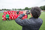 London Turkish All-Stars team before the London Turkish All-Stars Vs Tibet during the Conifa Paddy Power World Football Cup Placement Match A on the 5th June 2018 at Bromley in the United Kingdom. London Turkish All-Stars 4 Tibet 0. Tibet were due to play Ellan Vannin, although Ellan Vannin were withdrawn by CONIFA. Ellan Vannin's withdrawal comes following a vote of the tournament management committee on Monday 4 June, which rejected a challenge by Ellan Vannin to the eligibility of a Barawa player. The CONIFA World Football Cup is an international football tournament organised by CONIFA, an umbrella association for states, minorities, stateless peoples and regions unaffiliated with FIFA.
