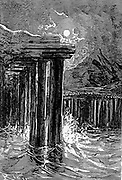 The Fjord of Stapi from the book ' A journey to the centre of the earth ' by Jules Verne (1828-1905) Published in New York by Charles Scribner's Sons, 1905
