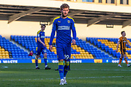 AFC Wimbledon midfielder Shane McLoughlin (19) during the EFL Sky Bet League 1 match between AFC Wimbledon and Hull City at Plough Lane, London, United Kingdom on 27 February 2021.