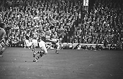 Kerry's T. Prendergast runs towards the goal during the All Ireland Senior Gaelic Football Final Kerry v Down in Croke Park on the 22nd September 1968. Down 2-12 Kerry 1-13.